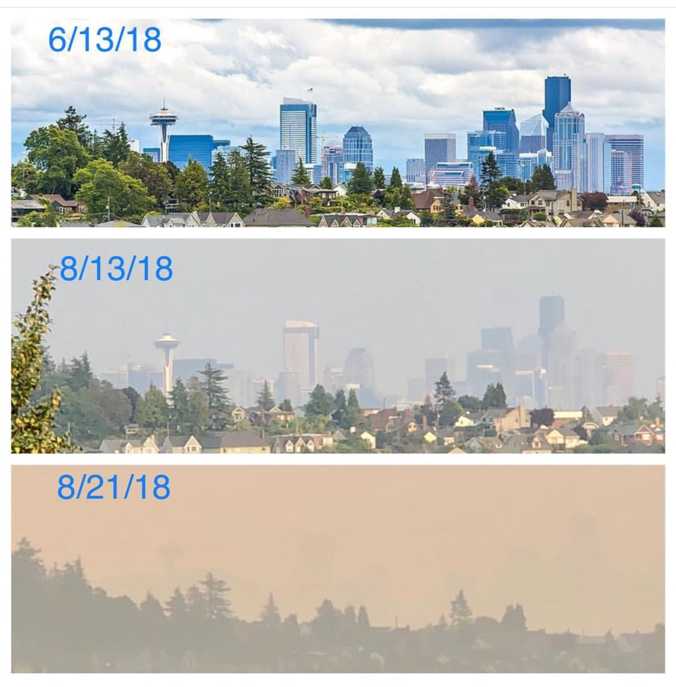 Wildfire Smoke Doesn't Hover Over Seattle Anymore