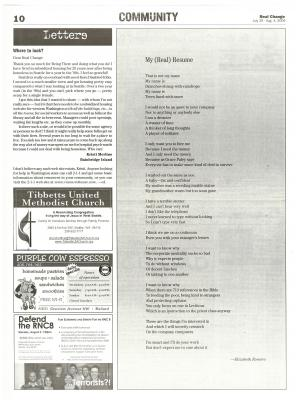 Poem by Elizabeth Romero