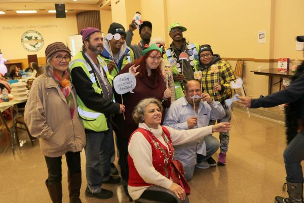On December 17 vendors, staff and volunteers gathered together at Seattle Labor Temple for our annual holiday party. Photo by Jon Williams