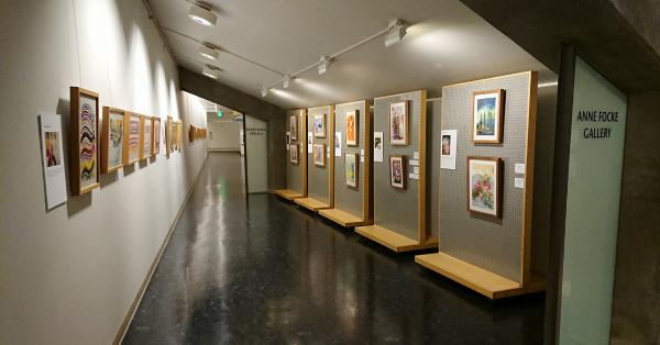 "Installation view of ""The Artist Within"" at Seattle City Hall. Photo by Lisa Edge"