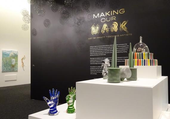 """Making Our Mark: Art by Pratt Teaching Artists"" runs until April 8, 2018."