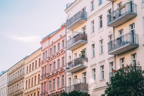 Housing in Prenzlauer Berg, Berlin. City residents are fighting the high costs of rents by proposing the renationalization of several buildings. Photo by Jonas Denil.