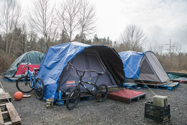Patacara won a contract with the city of Seattle in February to develop and support Camp Second Chance, a self-managed encampment on Myers Way. Photo by Sarah Shannon