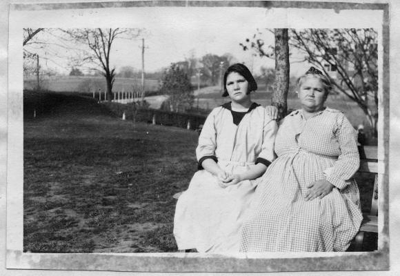 Carrie Buck, pictured with her mother, underwent forced sterilization by the state of Virginia.