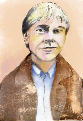 Illustration of Chuck Collins by Jon Williams
