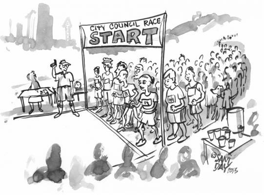 Cartoon by Sam Day