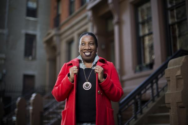 Tarana Burke in New York City in December. Photography by Pontus Höök.
