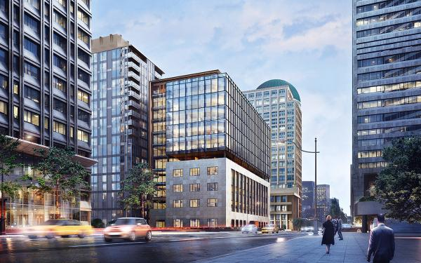The former Federal Reserve of San Francisco building on Second Avenue will be made into an office building. Rendering courtesy of Martin Selig Real Estate Company
