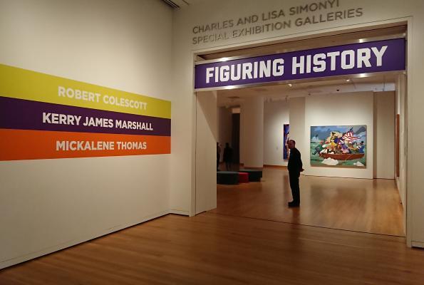 """Figuring History: Robert Colescott, Kerry James Marshall, Mickalene Thomas"" at Seattle Art Museum runs until May 13. Photo by Lisa Edge"