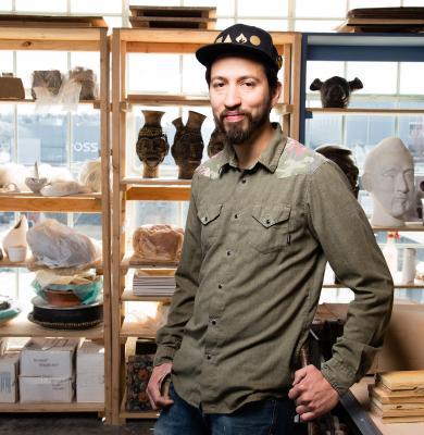 Ceramicist George Rodriguez in his Ballard studio. Photo by Matthew S. Browning