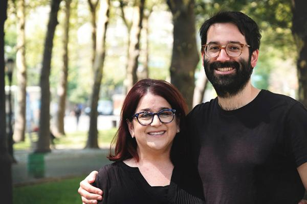 """Gorilla and the Bird"" author Zack McDermott with his mother. Photo courtesy of Zack McDermott"