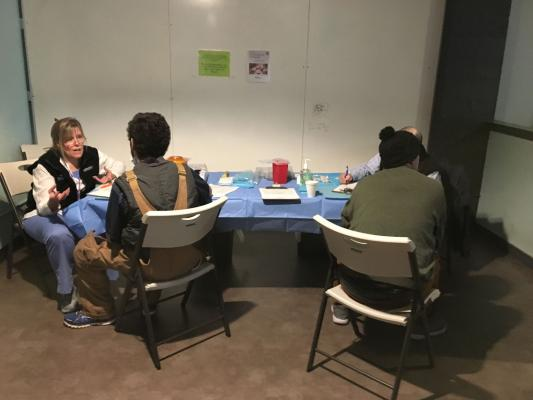 A free Hepatitis A vaccine clinic held at the Salvation Army Jefferson Day Center on April 26. Photo provided by Public Health – Seattle & King County.