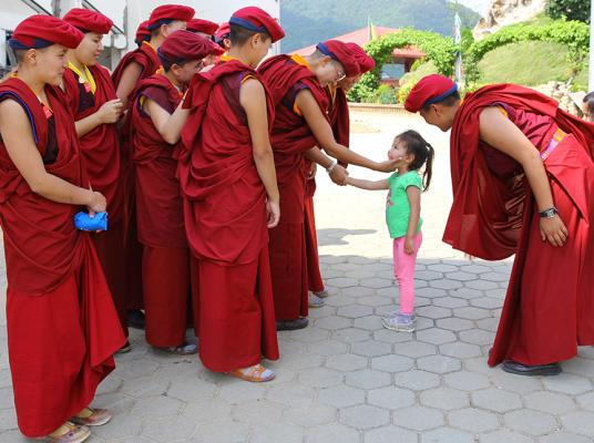 """""""If we leave an impact on one person, and that person impacts on another, eventually we will begin to see people change their way of thinking,"""" says Jigme Konchok Lhamo, a nun from the Himalayan Drukpa lineage of Tibetan Buddhism."""
