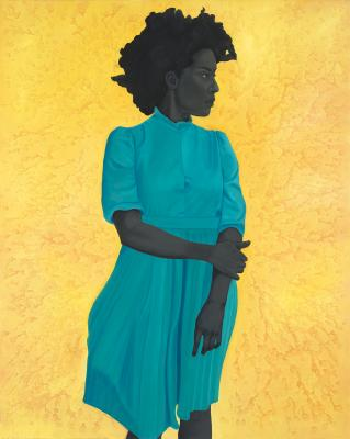 """""""Saint Woman,"""" oil on canvas by Amy Sherald"""