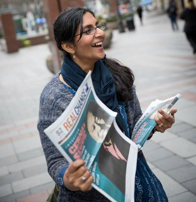 Seattle City Councilmember Kshama Sawant was one of two councilmembers to vote against the repeal of the employee hours tax. File photo