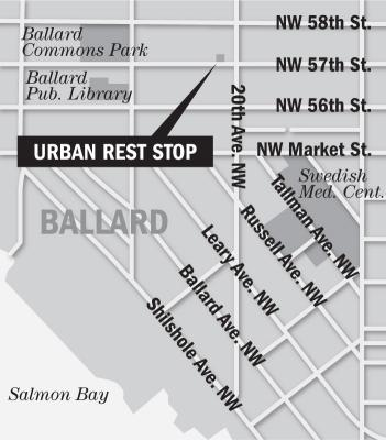 Map of Urban Rest Stop in Ballard