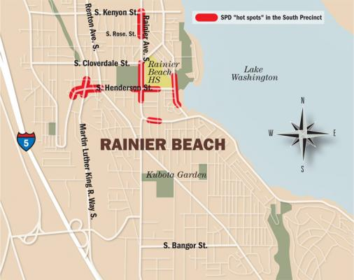 Map of Rainier Beach