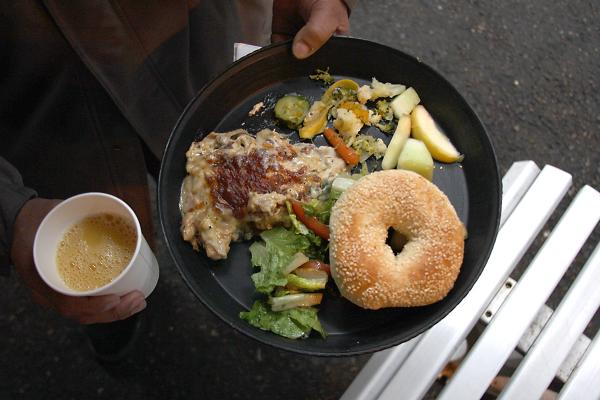 House Bill 1076 isn't sitting well with food providers, such as Operation: Sack Lunch, a nonprofit that serves meals to homeless people. Photo by Jon Williams, Real Change