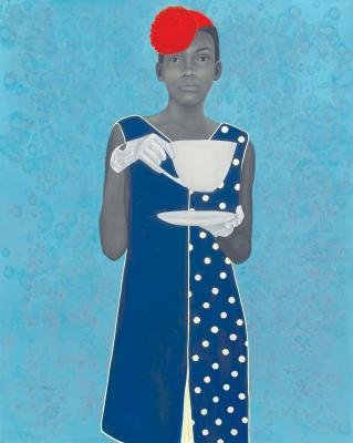 """Miss Everything (Unsuppressed Deliverance)"" by Amy Sherald, oil on canvas, 2013."
