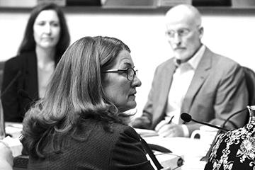 Barbara Poppe talks at a meeting of the Human Services and Public Health Committee on Sept. 8 in the Seattle City Council Chambers. Photo by Jon Williams, Real Change
