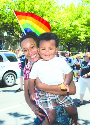 Many families attended Seattle Pride June 30, 2019.