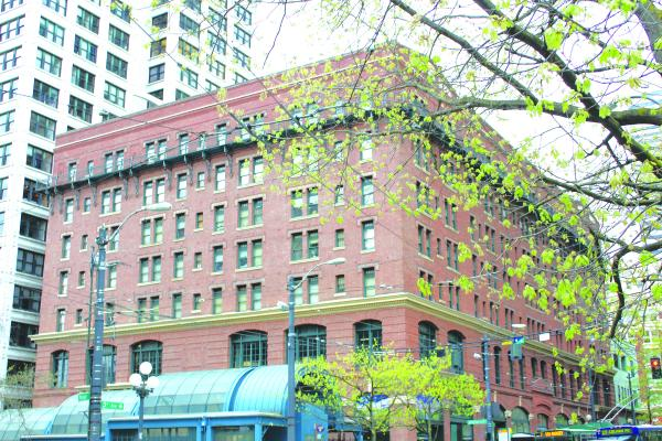 The Morrison, a DESC shelter, stands at the heart of Pioneer Square, which will be ground zero in the event of an earthquake. DESC retrofitted the building after the 2001