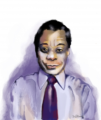 Book review: 'Begin Again: James Baldwin's America and Its Urgent Lessons for Our Own' By Eddie Glaude Jr. Illustration by Jon Williams