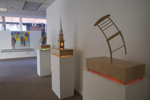 """Present/Tense"" at Spaceworks Gallery in Tacoma features the work of Malayka and Tom Gormally. Photo by Malayka"