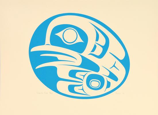 """Robin's Egg,"" 1981, by Phil Janzé, Gitxan First Nation, digital print"