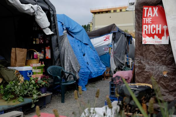 Tent City 5's Interbay location. Photo by Alex Bergstrom