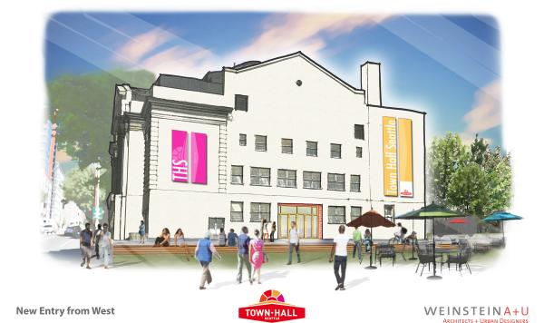 The Town Hall remodel calls for many changes to the historic building. Rendering courtesy of Town Hall.
