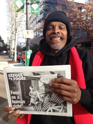 Vendor William Howard of Street Roots (Portland)