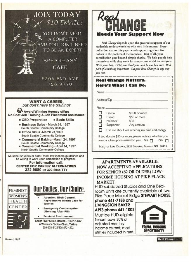 Table of Contents Mar 1, 1997 with pictures of entire issue