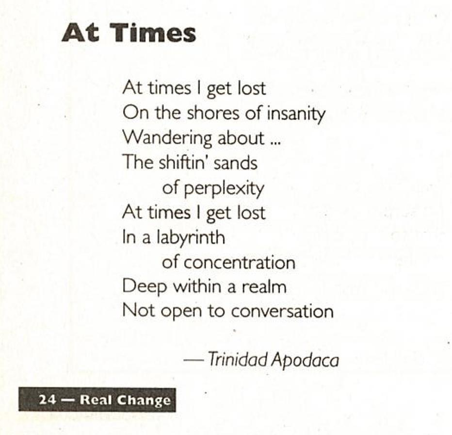 Poetry Mar 1, 1997   March 1, 1997   Real Change