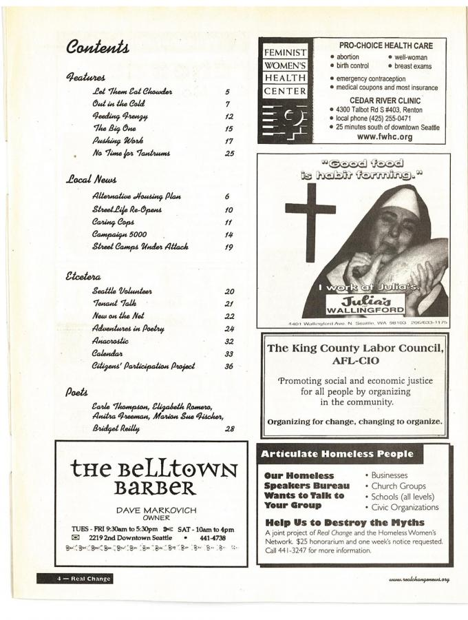 Table Of Contents April 1998 With Pictures Of Entire Issue April 1