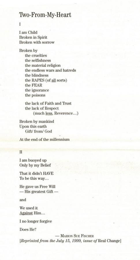 Poetry Nov 27, 2002   November 27, 2002   Real Change