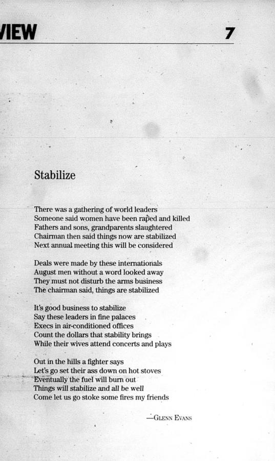 Poetry Jul 19 2006 Real Change