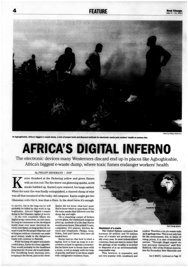 Africa's digital inferno | December 05, 2012 | Real Change