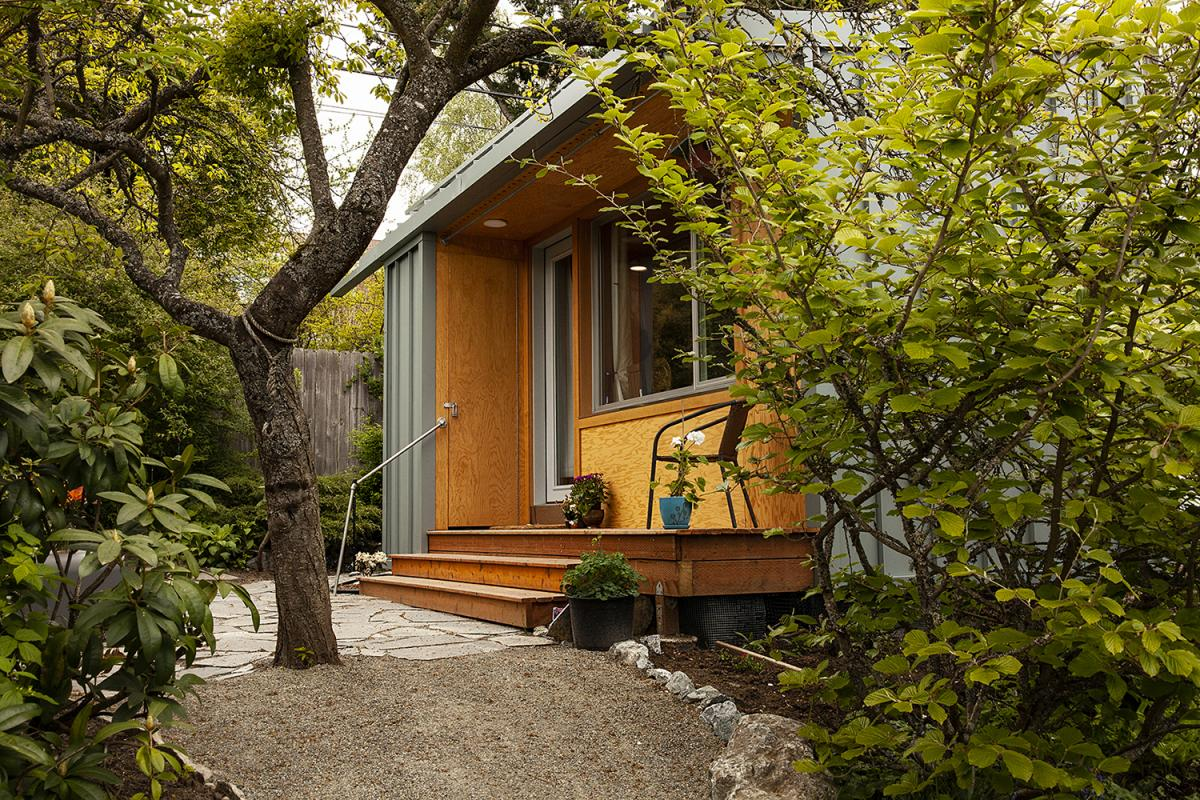 Architect and BLOCK Project founder Rex Hohlbein and his daughter Jenn LaFreniere have designed tiny homes to place in the backyards of homes in Seattle neighborhoods to house homeless people.