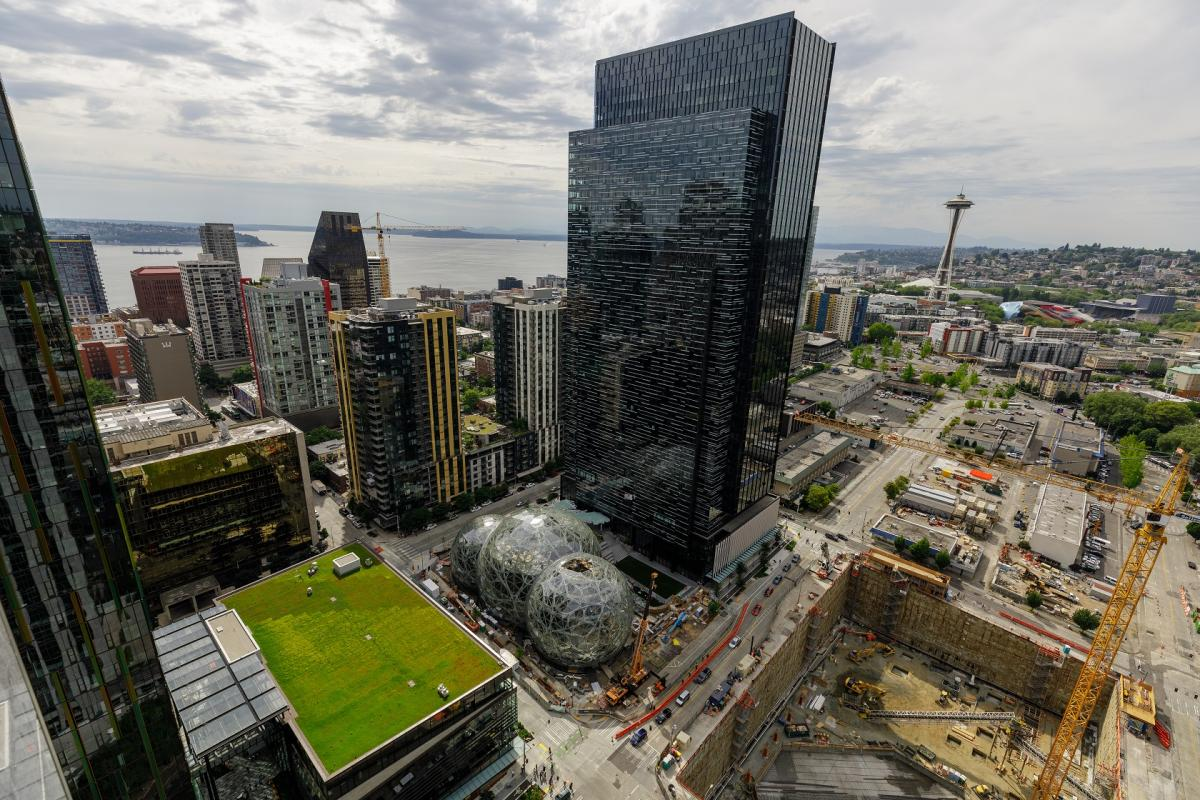 Amazon campus in Seattle's South Lake Union neighborhood. Photo courtesy Amazon.