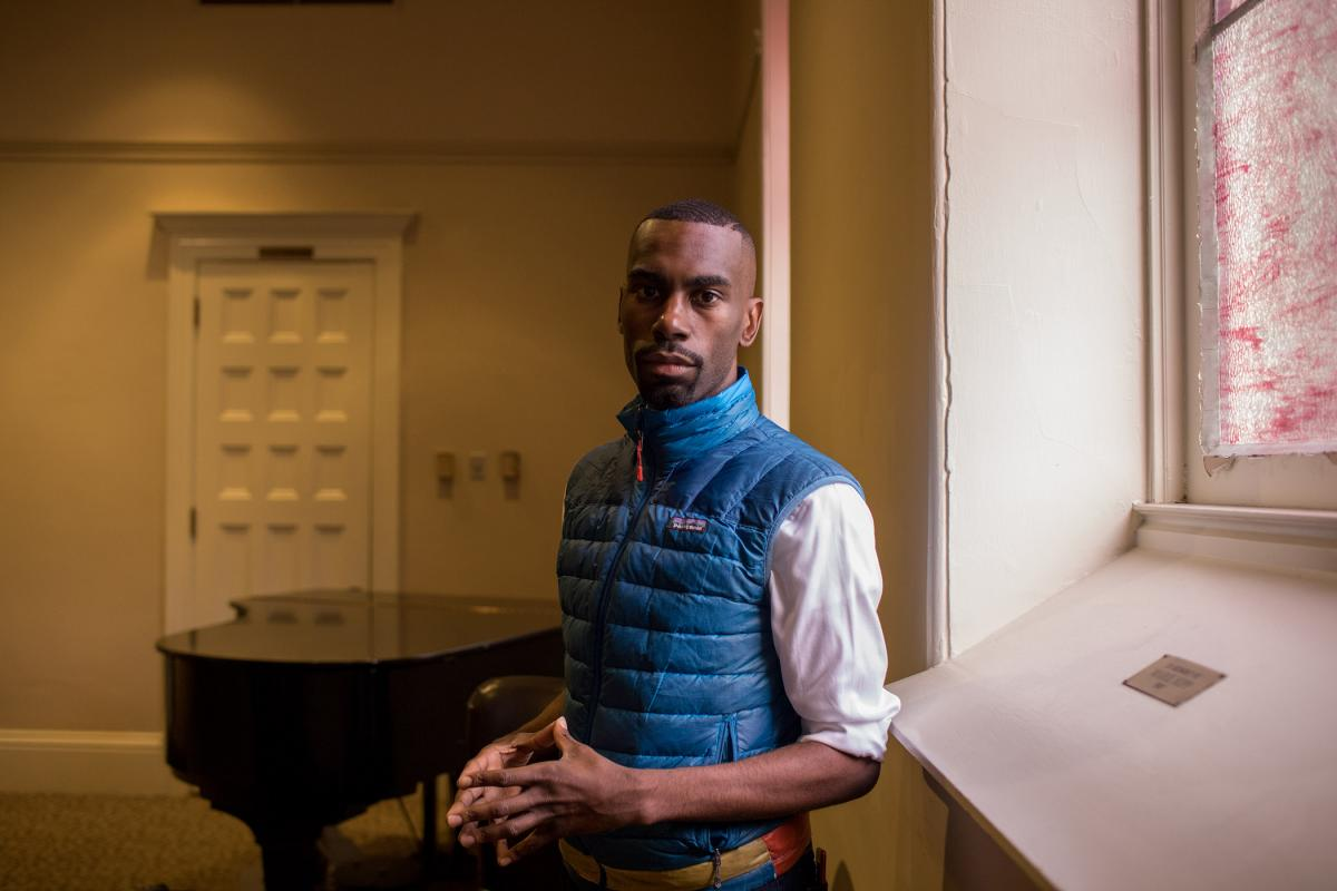 Civil rights activist and former school administrator DeRay Mckesson speaks in Portland on March 15. Photo by Celeste Noche