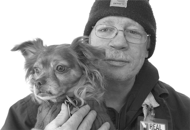 Ed Arthurs with his dog Cosby.