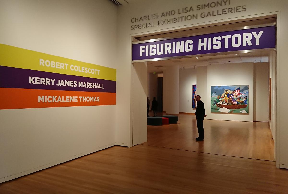 """Figuring History: Robert Colescott, Kerry James Marshall, Mickalene Thomas"" at Seattle Art Museum runs until May 13. Photo by Lisa Edge"