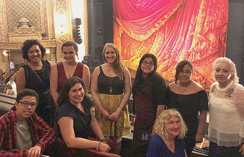 Graduation Success youth attend The Phantom of the Opera at the Paramount Theatre with their caregivers and Treehouse education specialists. Photo courtesy Treehouse