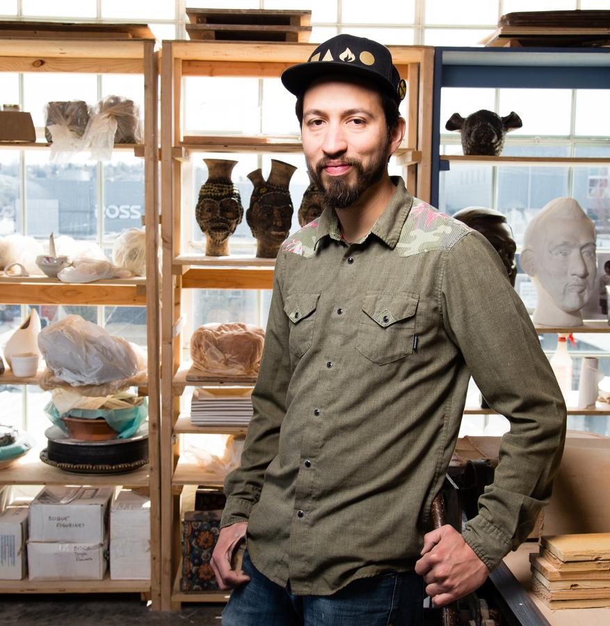 Ceramicist George Rodriguez in his Ballard studio. Photo by Matthew S. Browning