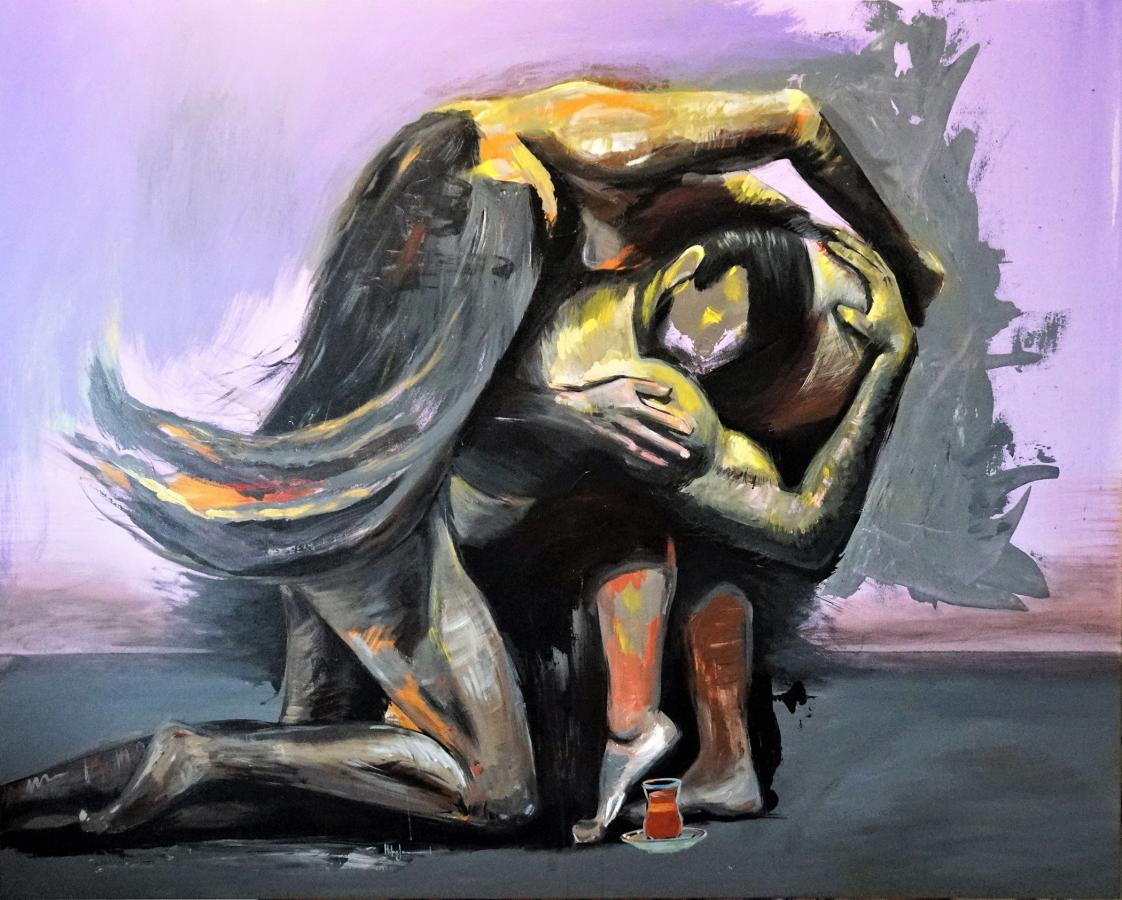 """Altruism"" by Hiba Jameel, acrylic on canvas"