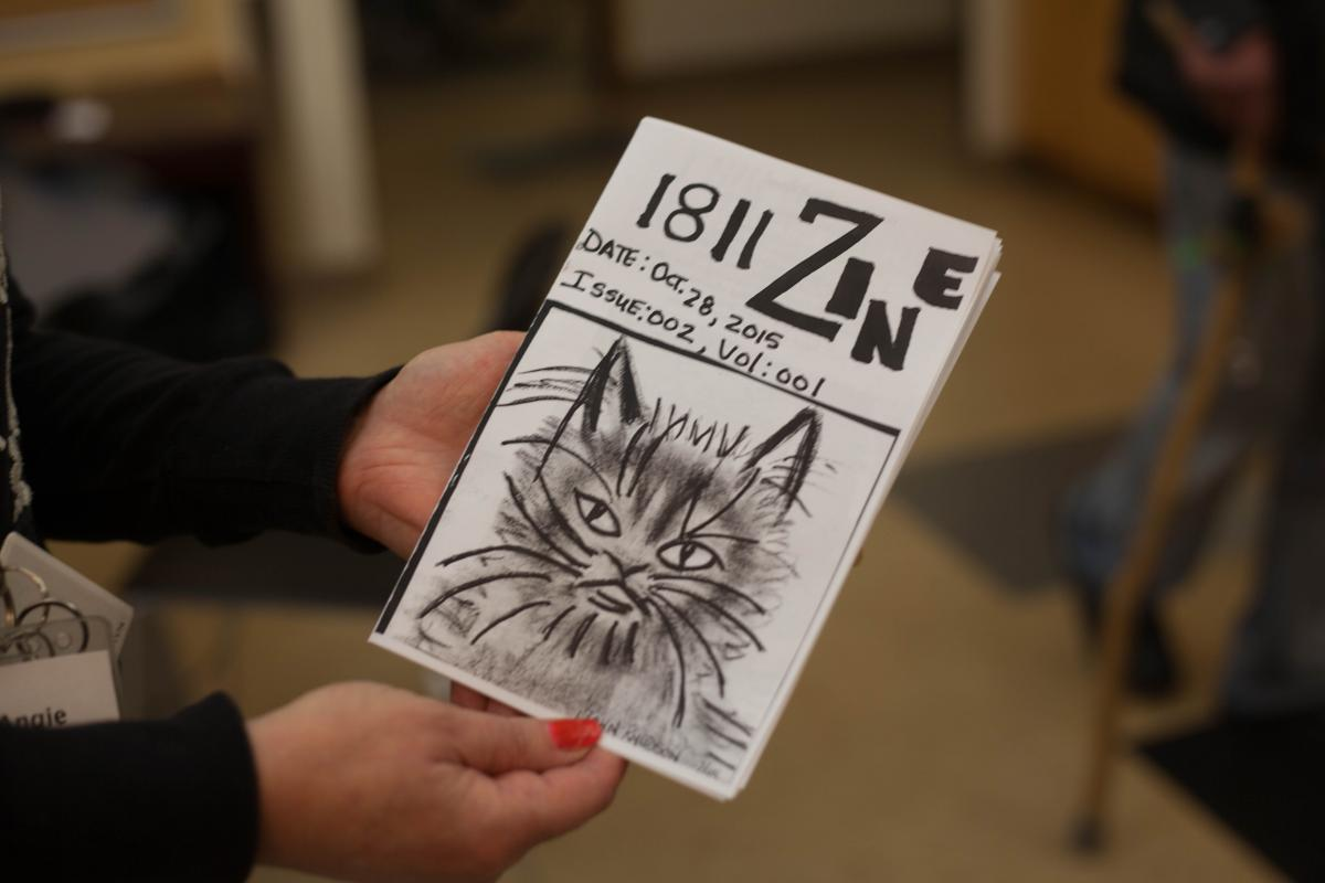 October's edition of 1811 Zine was the second one put out by the 75 residents who is formerly homeless and trying to deal with alcohol addiction.
