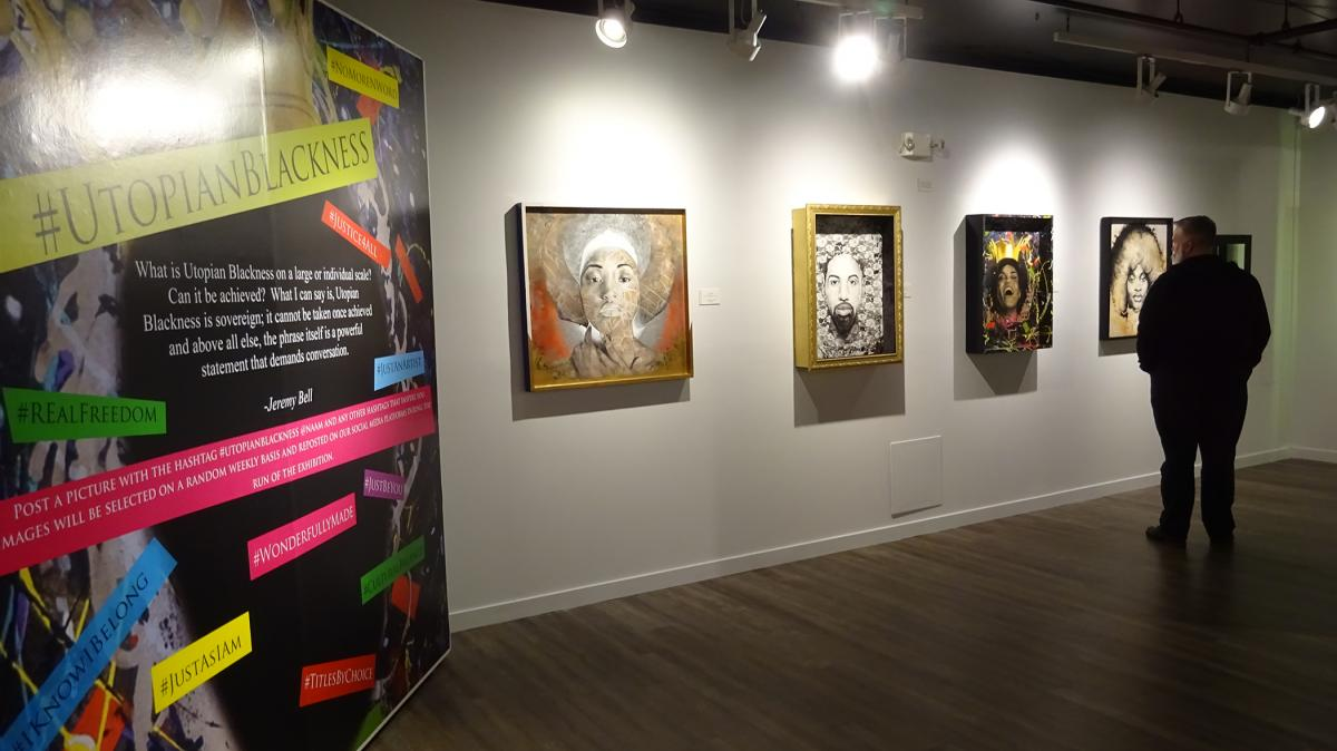 "Gallery view of ""Utopian Blackness"" at NAAM. Photo by Lisa Edge"