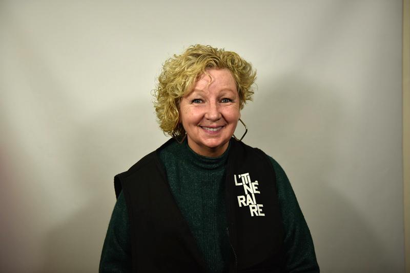 Linda Pelletier, vendor for L'Itinéraire, Montréal. Photo by Milton Fernandes