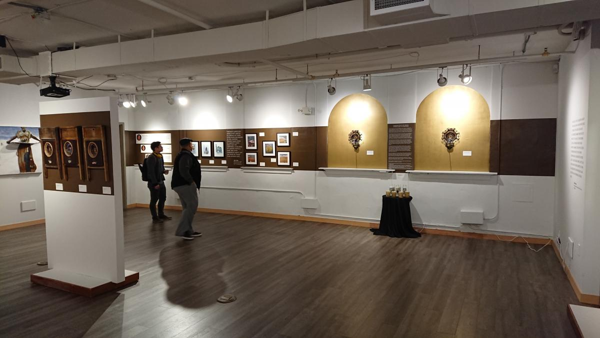 The exhibit by Lisa Myers Bulmash at Northwest African American Museum runs until April 8. Photo by Lisa Edge